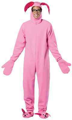 Bunny Suit Pink A Christmas Story Ralphie Rabbit Animal Halloween Adult Costume](Christmas Story Rabbit Suit)
