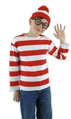 Elope KIDS WHERE'S WALDO Halloween COSTUME SIZE L/XL New - Waldo Kids Costume