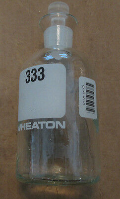 Lot Of 5 Wheaton 300ml Glass Laboratory Bottles With Toppers