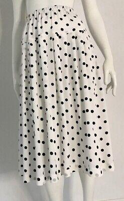 80s Dresses | Casual to Party Dresses Vintage 1980's Polka Dot Polyester Skirt $19.33 AT vintagedancer.com