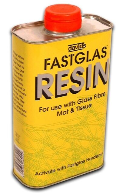 David's Fastglas Resin Fibre Glass Fast Glass [RELA] Fibreglass 500ml