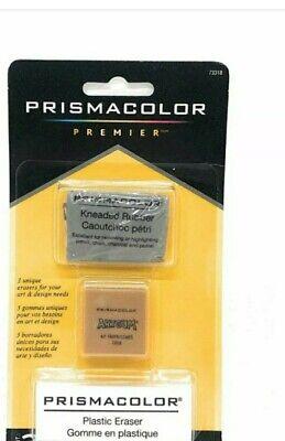2 Two Packs Prismacolor Premier Plastic Eraser Set Includes 3 Unique Erasers