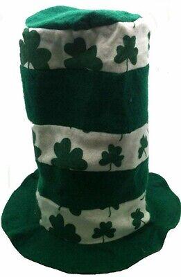 Stove Hat (Irish Shamrock Stove Pipe Hat)