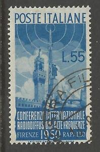 ITALY-SG750-1950-INT-RADIO-CONFERENCE-55l-FINE-USED