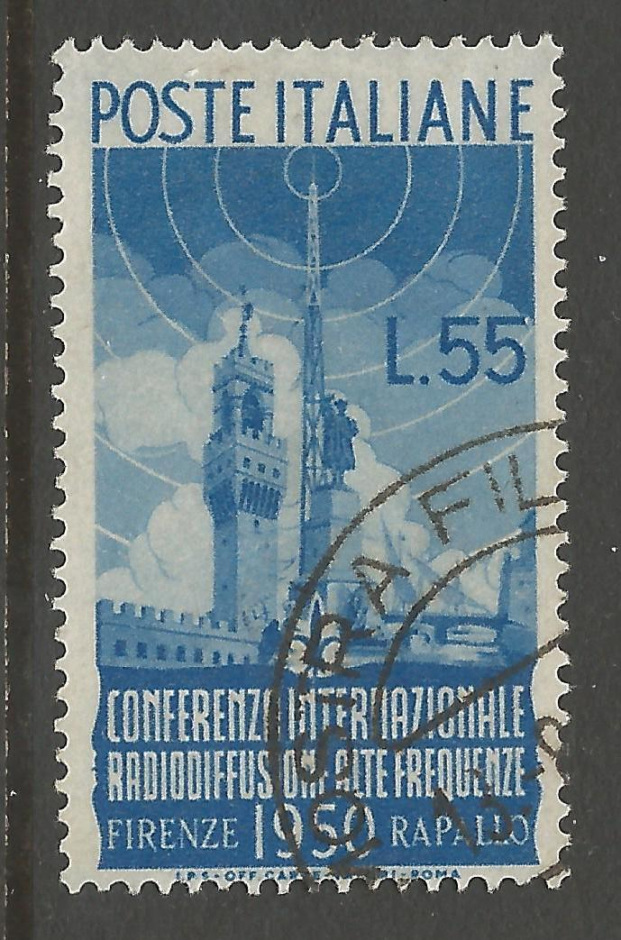 ITALY SG750 1950 INT RADIO CONFERENCE 55l FINE USED