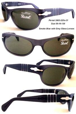 Brand New Smoke Blue Persol 2603 Sunglasses with Famous Persol Glass (Famous Sunglass Brands)