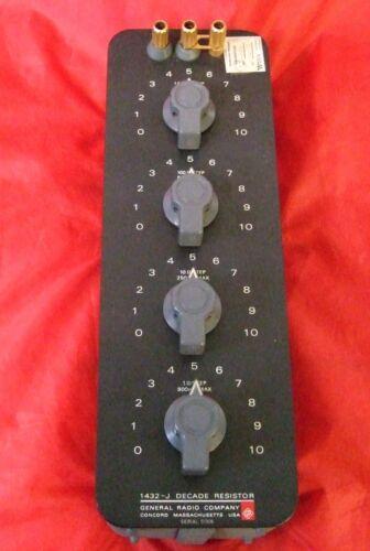 Gold Posts General Radio Decade Resistor 1432-J