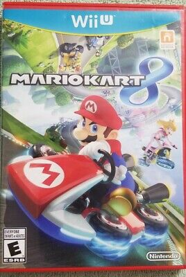 WII U Mario Kart 8 Wii Games pre-owned No Scratches mirror finish Complete C-pix