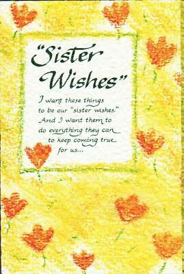 Blue Mountain Arts Greeting Card, SISTER WISHES Blue Mountain Arts