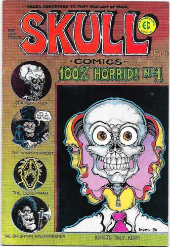 Skull Comics #1 2nd printing Rip Off Press 1970, Jaxon, Irons, Sheridan  VF