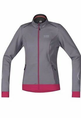 b10229b43 NWT GORE Bike Wear Womens Sz XL Gray Windstopper Soft Shell Jacket Jwelel  861310
