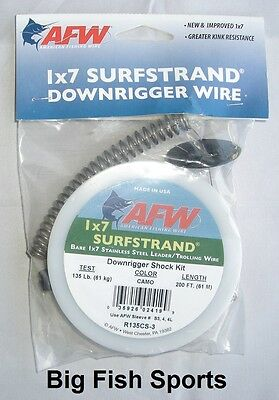 NEW AFW Surfstrand Downrigger Wire Assembly 150Lb Brt 300/' R150TA-4