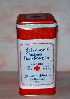 100th Anniversary Johnsons Antiseptic Baby Powder Tin Can New Brunswick NJ