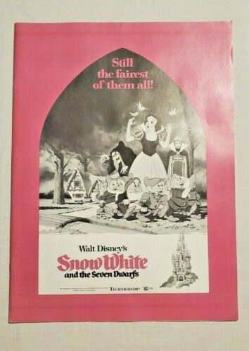 SNOW WHITE & THE SEVEN DWARFS DISNEY PRESSBOOK 1975 RE-RELEASE ADVERTISING