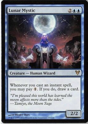 Lunar Mystic *PLAYSET* Magic MtG x4 Avacyn Restored SP