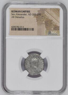 AD 222-235 Silver Denarius Roman Coin NGC - Roman Empire