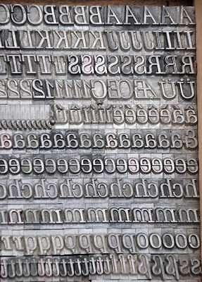 SCHADOW 24° Bleischrift Bleisatz Buchdruck Alphabet Handsatz Bleilettern ABC
