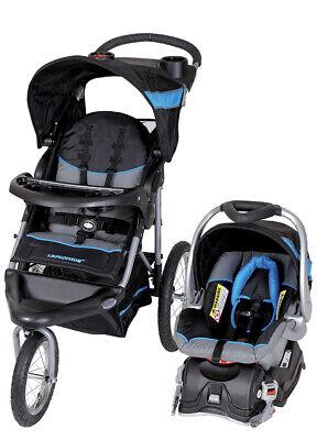Millennium Blue Expedition Jogger Baby Travel System Lightweight Infant Stroller