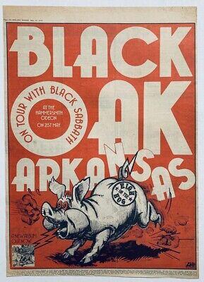 BLACK OAK ARKANSAS 1974 vintage POSTER ADVERT HIGH ON THE HOG UK CONCERT