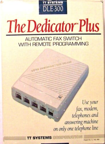 "THE DEDICATOR PLUS "" Automatic Fax Switch ""  REMOTE PROGRAMMING - FAX MACHINE"