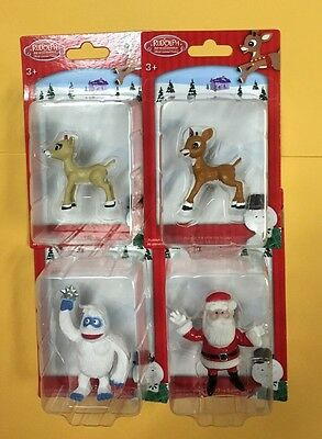 Set 4 Rudolph The Red Nosed Reindeer Figurines SANTA, RUDOLPH, CLARICE & BUMBLE