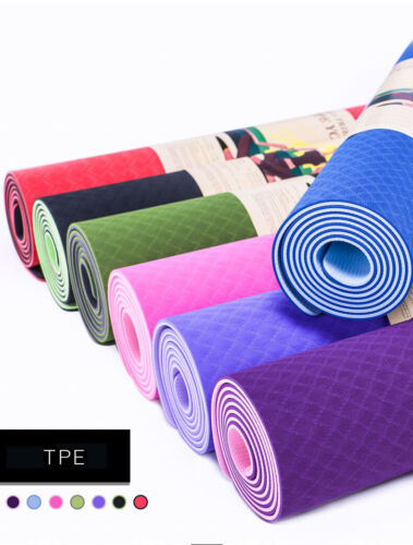 NEW Wholesale (12 mat) 6MM TPE YOGA MAT ECO FRIENDLY ANTI SLIP 183*61cm from USA