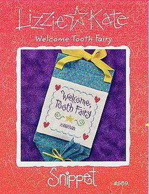 LIZZIE KATE: WELCOME TOOTH FAIRY CROSS STITCH (Welcome Tooth)