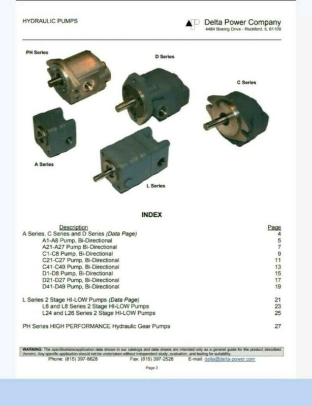 DELTA POWER HYDRAULIC COMPANY PUMP MODEL- D27/BI-Directional-Used