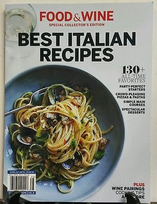 Food & Wine Special Best Italian Recipes Pizzas Pastas Desserts FREE SHIPPING (Best Italian Pizza Recipe)