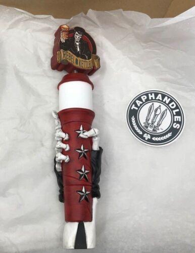 Rebel Kettle Brewing Beer Tap Signature Handle Skeleton Hand, Little Rock - Rare