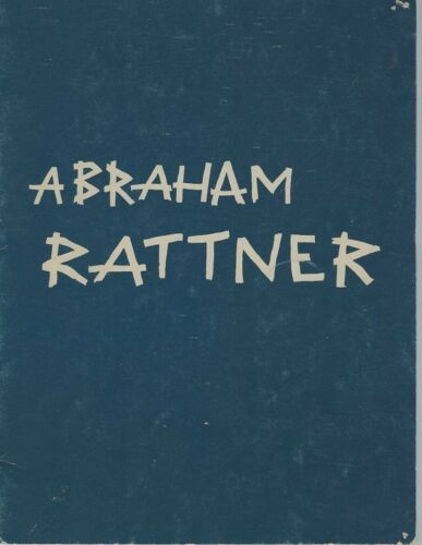 1970 Abraham Rattner Art Exhibition Catalog, New York - Kennedy Galleries