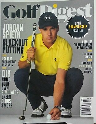 Golf Digest July 2017 Jordan Spieth Blackout Putting PGA Tour FREE SHIPPING (Golf Digest Putting)