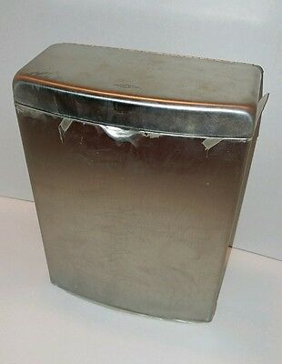 BOBRICK SANITARY NAPKIN DISPOSAL WALL BOX CONTAINER Curved Brushed Stainless New