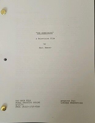 "The Waltons "" The Homecoming "" A Christmas Story Earl Hamner Script 1971"