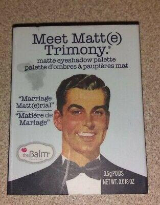 The Balm Cosmetics Meet Matt(e) Trimony, Balm Springs & Hikari Eyeshadow Samples