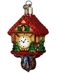 Old World Christmas Glass Ornament New 32033 Cuckoo Clock NO OWC BOX