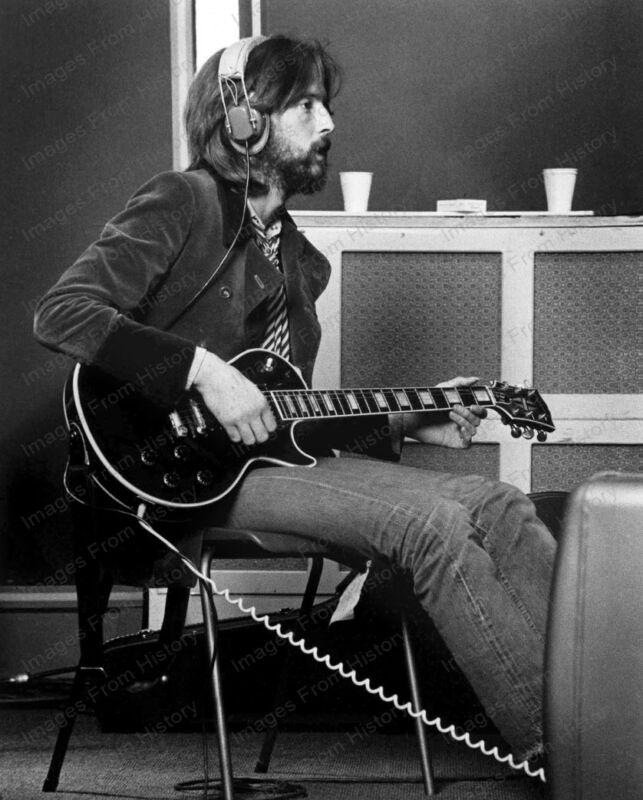8x10 Print Eric Clapton Studio Session 1969 #EC232