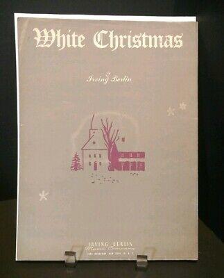 1942 White Christmas Sheet Music Caroling Holiday Song Piano Voice Guitar T76 ()