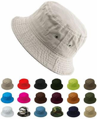 Cotton Bucket Hat Fishing Hunting Summer Travel Fisherman Sun Safari Cap