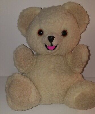 Vtg 1986 Snuggle Bear Hand Puppet Fabric Softener Plush Stuffed Toy Russ
