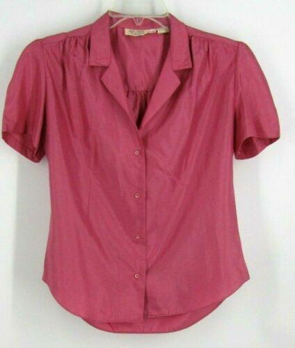 Vintage Stuart Lang Pink Magenta Button Down Top size 11/12