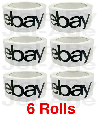 6 Rolls Official Ebay Branded Tape Packing Shipping Supplies 75 X 2 Priority