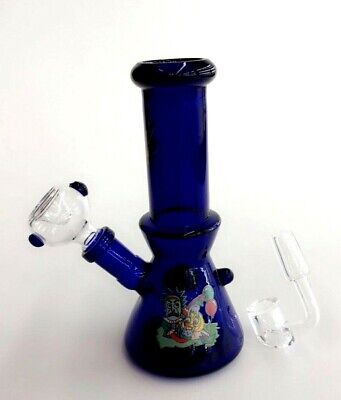 """Best quality pipe collectible Water color glass pipes 6"""" perc bowl +banger (Best Quality Glass Pipes)"""