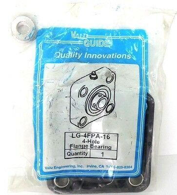 New Valuguide Lg-4fpa-16 Flange Bearing 1 Inch 4 Hole Lg4fpa16