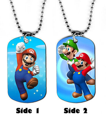 DOG TAG NECKLACE - Gaming #SN1 Super Mario Bros Brothers 1