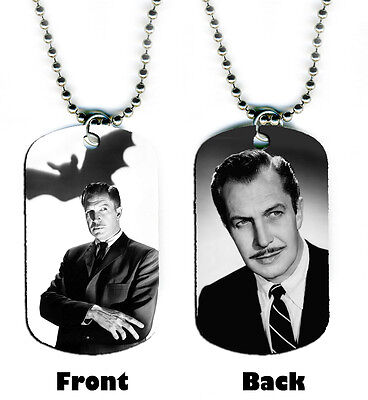DOG TAG NECKLACE - Vincent Price #SN1 Horror Movie Icon legend Halloween - Iconic Halloween Movies
