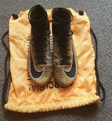 Nike Mercurial Orange and Black Vapor Superfly Elite FG UK 7