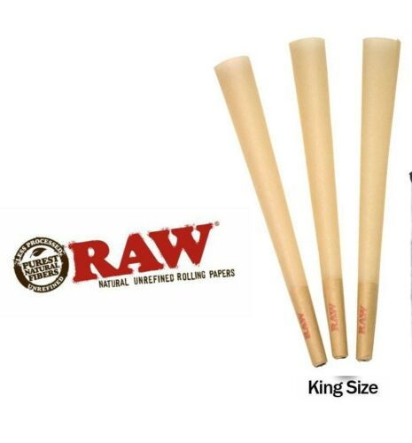 RAW Classic KING SIZE Cones Rolling Papers - 50 Pack - Pre-Rolled w/Filter BULK