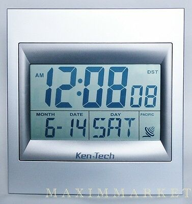 ATOMIC RADIO CONTROLLED LCD ALARM CLOCK WITH 2 HIGH NUMBERS