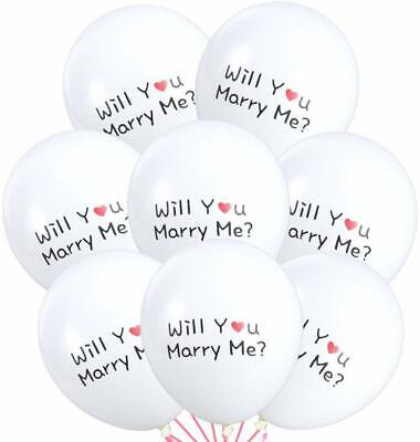Will You Marry Me Balloons (100 ct 12 inch white Latex Balloons with Will You Marry)